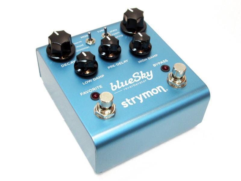 Made 宅配便送料無料 in USAのハイグレード リバーブ ストライモン Blue 新作送料無料 Sky STRYMON