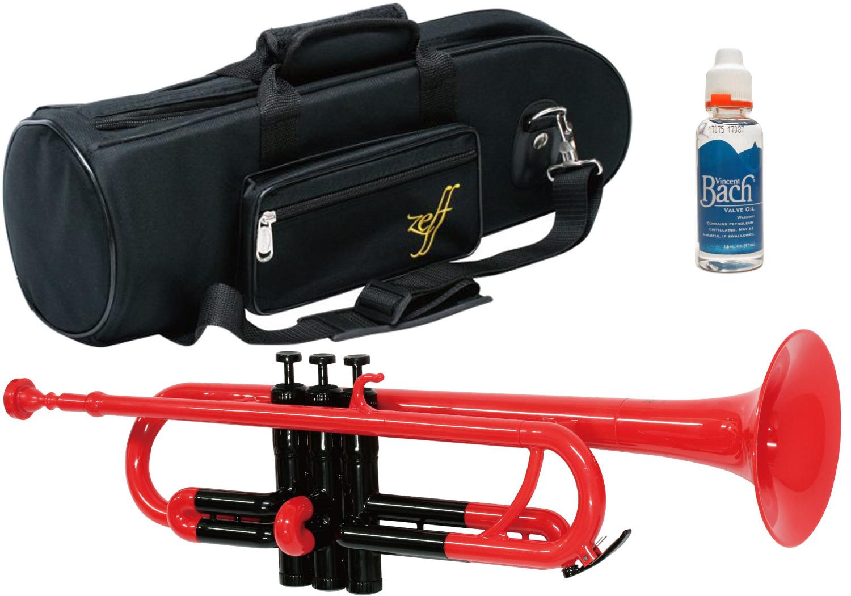 ZEFF ( ゼフ ) ZPT-01 RED BLK トランペット 新品 調整品 アウトレット プラスチック レッド 管楽器 赤色 trumpet BACH バルブオイル セット 北海道 沖縄 離島不可
