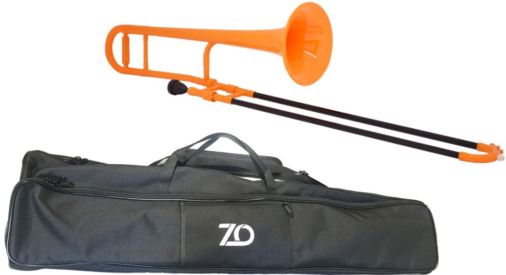 【予約】 ZO ( ゼットオー ) トロンボーン TTB-11 オレンジ 新品 アウトレット プラスチック 細管 テナートロンボーン 管楽器 tenor trombone orange 北海道 沖縄 離島不可