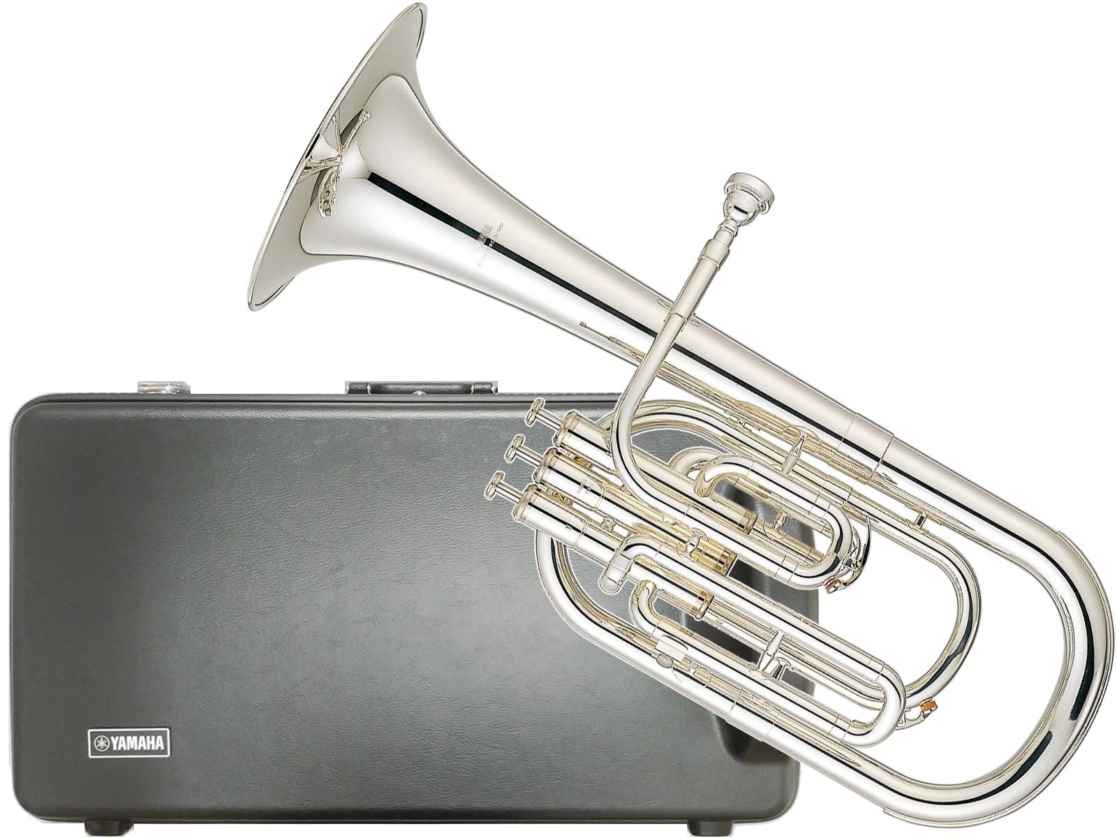 YAMAHA ( ヤマハ ) YAH-203S アルトホルン 正規品 E· 銀メッキ 3ピストン トップアクション 管楽器 Eb alto horn Eフラット 北海道 沖縄 離島不可