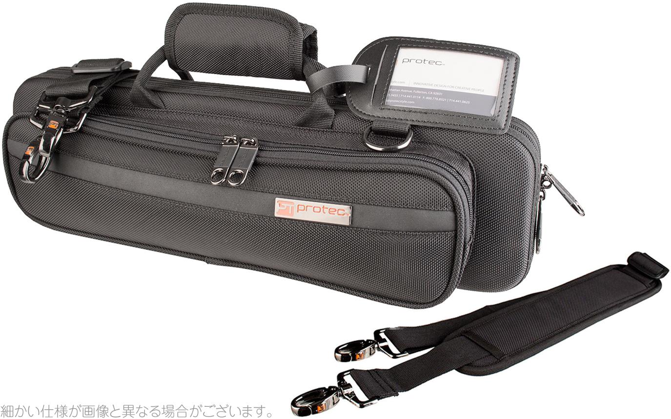 PROTEC ( プロテック ) PB-308 Black フルートケース C管 H管 セミハードケース ショルダータイプ 管楽器 ケース フルート用 ブラック flute PRO PAC case
