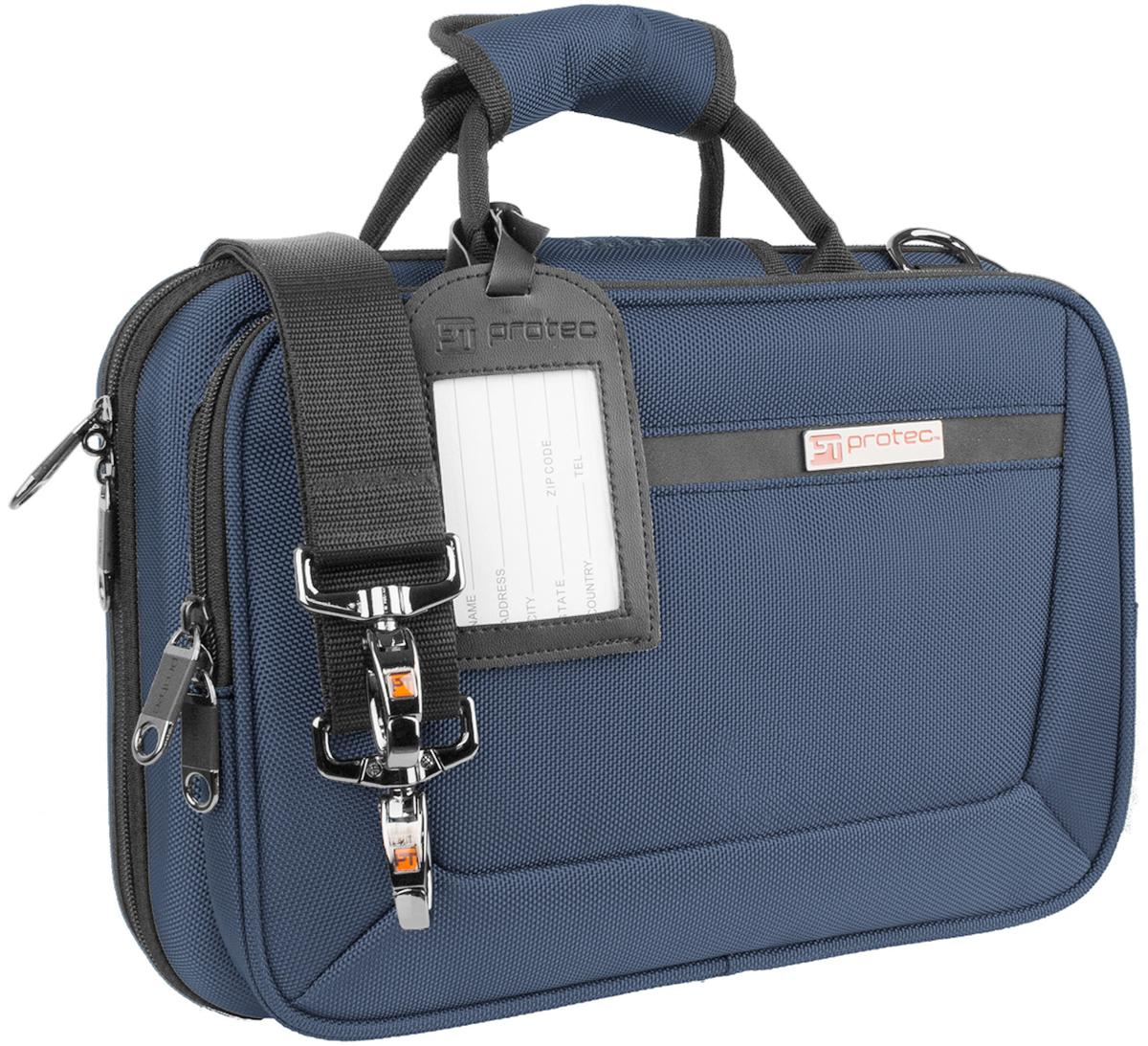 青色 クラリネット用ケース bag 至高 Bフラット ストラップ付き PROTEC プロテック PB-307 blue B♭ クラリネットケース ネイビー Case セール品 Clarinet PRO クラリネット用 ショルダータイプ ケース PAC Slimline セミハードケース ブルーー