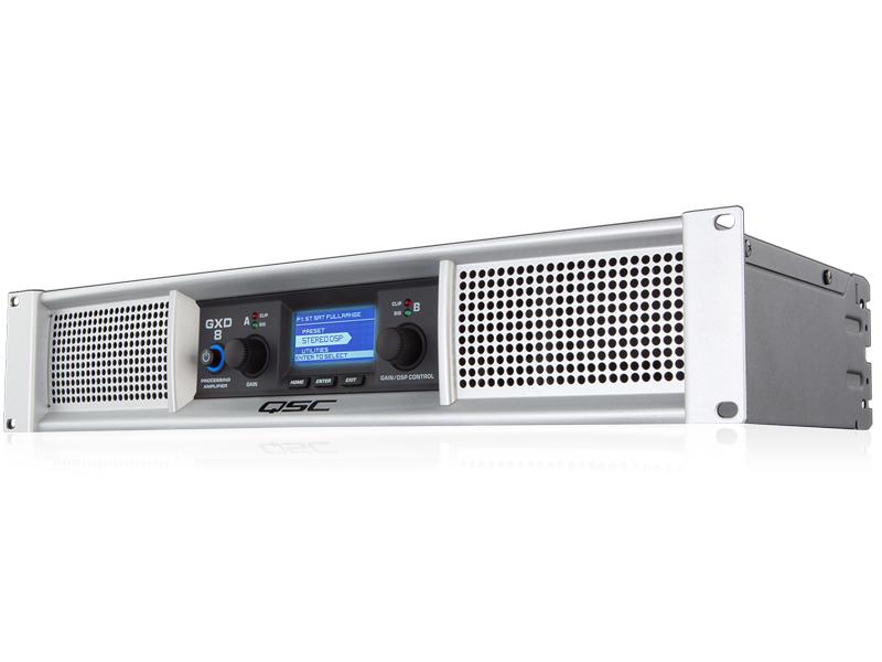 GXD8 × [ キューエスシー / ライブサウンド向け ] 800W 1200W 2 ) (8Ω) DSP搭載 パワーアンプ × シリーズ ◆ QSC (4Ω) GXD 2 (