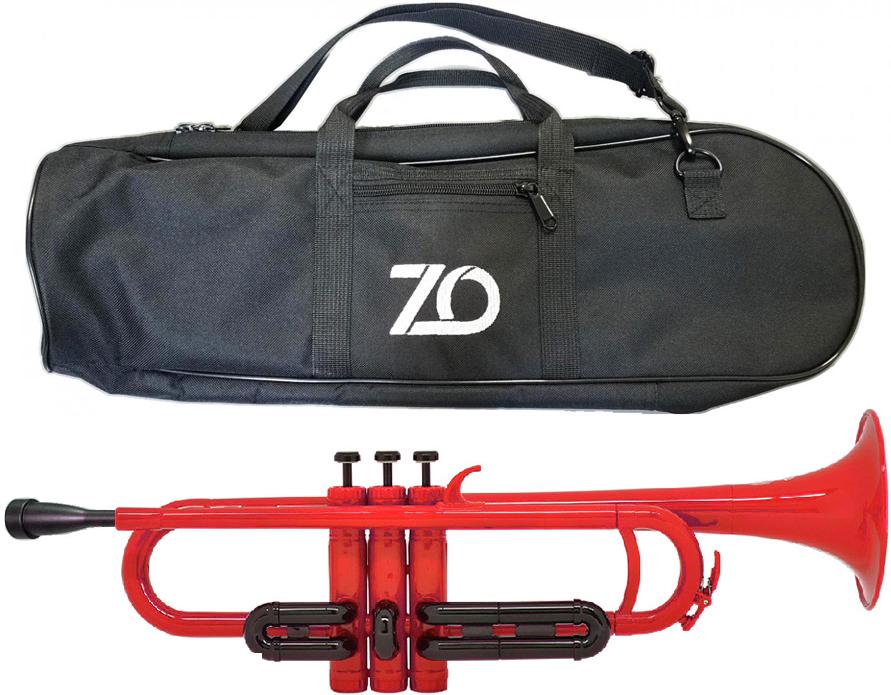 樹脂製 本体 B♭ TP01BK プラスチックトランペット マウスピース ZO ゼットオー トランペット TP-01BK レッド 楽器 管楽器 アウトレット 春の新作シューズ満載 離島不可 新品 一部予約 沖縄 trumpet プラスチック RED 北海道