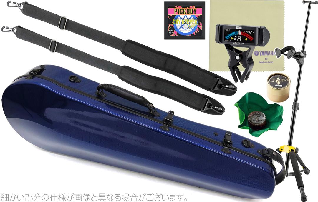 ( hard ブルー CFA-2 ビオラ用 ビオラケース リュックタイプ BLUE ) DS571BB Carbon カーボンマック 青色 cases ハードケース Mac B セット viola AW-LT100V スリム