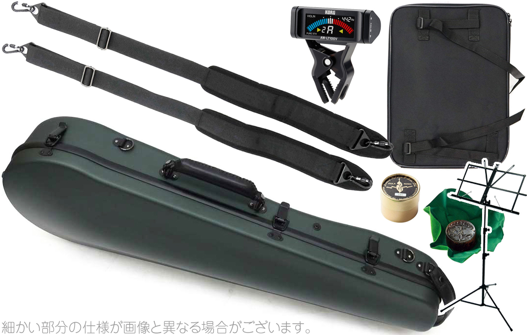 Carbon Mac ( カーボンマック ) CFA-2 サテン ビオラケース S-GRN リュックタイプ ハードケース ダークグリーン dark green viola hard cases AB-201 AW-LT100V セット D