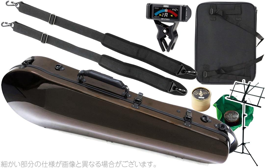 cases AW-LT100V D カーボンマック スリム CFA-2 viola 茶色 セット ビオラ用 リュック Mac ( AB-201 チョコブラウン Carbon ハードケース choco ) brown ビオラケース hard