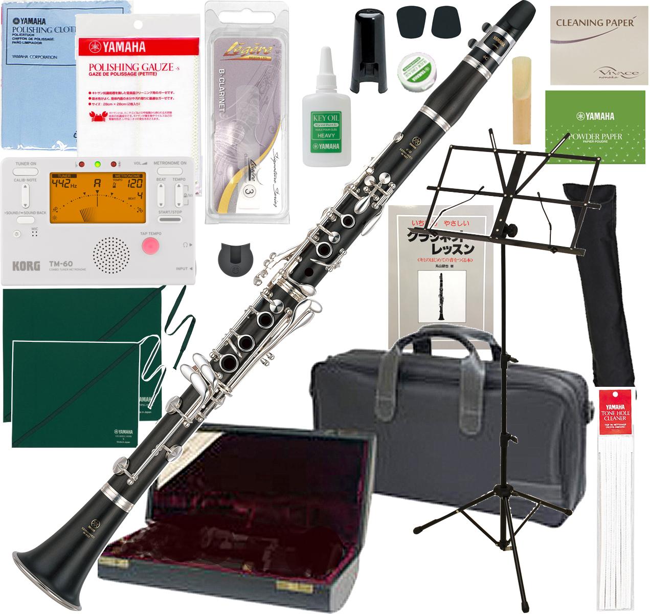楽器 made in JAPAN 4C マウスピース 初心者 練習用 Bフラット  YAMAHA ( ヤマハ ) YCL-450 クラリネット 木製 新品 日本製 管体 グラナディラ B♭管 管楽器 本体 スタンダード clarinet YCL450 セット A