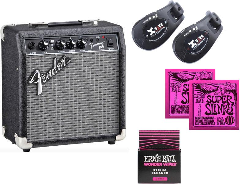 Fender ( フェンダー ) FRONTMAN 10G+XV-U2 (BK) ワイヤレスセット【2311007900】 フェンダー フロントマン FM-10G Xvive ワイヤレス ブラック