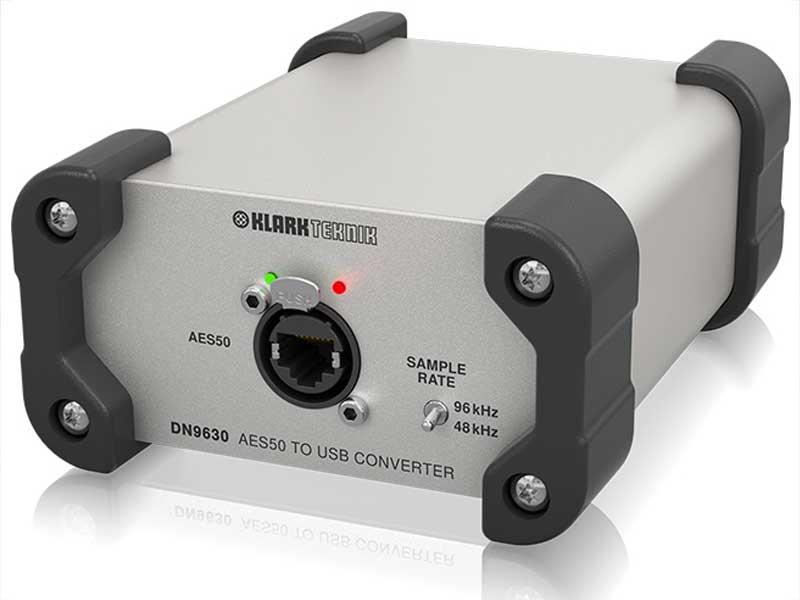 KLARK TEKNIK ( クラークテクニック ) DN9630 ◆ 最大48 双方向チャンネル、AES50 - USB 2.0 コンバータ [ 送料無料 ]
