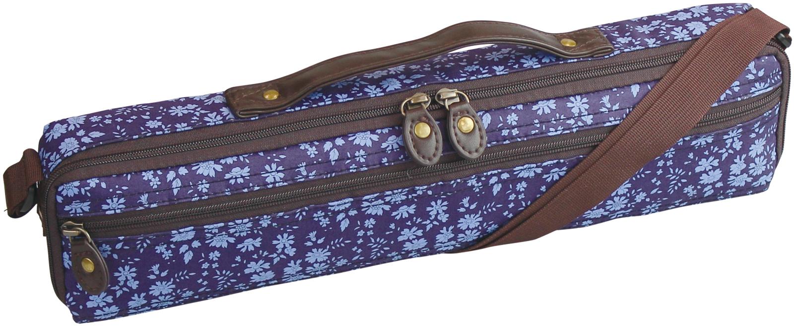 Pearl Flute ( パールフルート ) PSC-LFCC28 カペル フルートケース リバティプリント C足部管 ケースカバー ハードケース用 花柄 ブルー ショルダー flute case フルート用