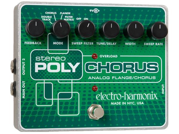 Electro Harmonix ( エレクトロハーモニクス ) Stereo Poly Chorus【EH7601】 ◆ コンパクトエフェクター コーラス フランジャー