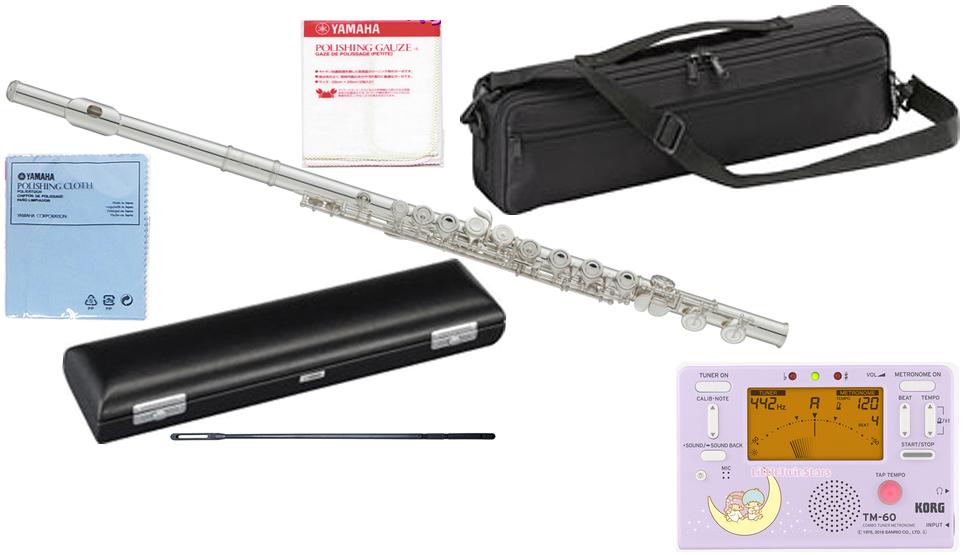YAMAHA ( ヤマハ ) YFL-212 フルート 正規品 Eメカニズム 銀メッキ カバードキイ オフセット 管楽器 C管 flute セット TM-60-STS キキララ  北海道 沖縄 離島不可