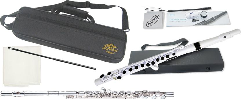 J Michael ( Jマイケル ) FL-300S フルート 新品 銀メッキ NUVO プラスチックフルート 管楽器 flute セット D 北海道 沖縄 離島不可
