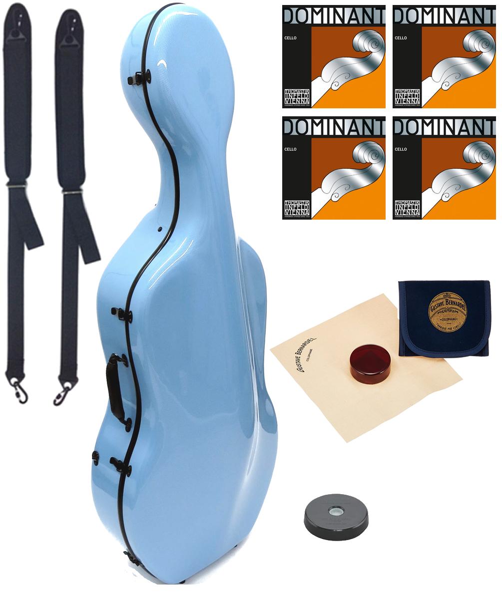 Carbon Mac ( カーボンマック ) CFC-3 PBL チェロケース 水色 4/4 リュック ハードケース cello hard cases Dominant ペールブルー blue セット 北海道 沖縄 離島 同梱不可