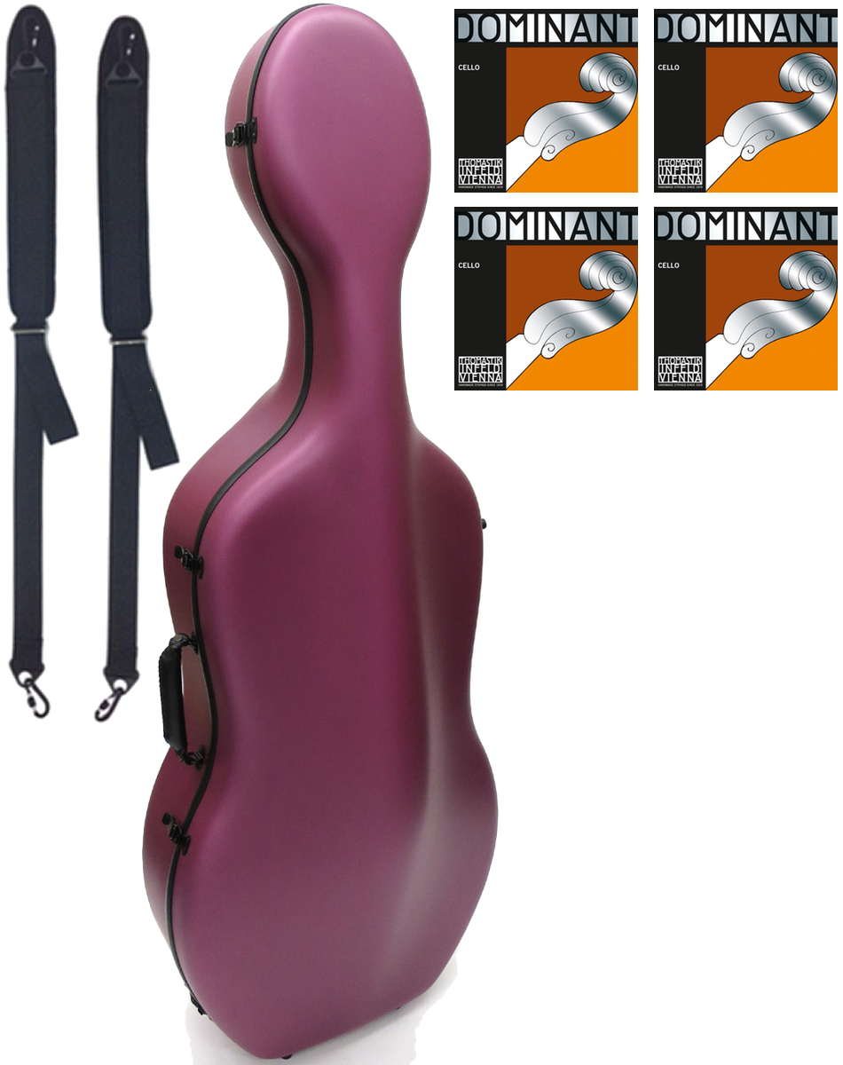 Carbon Mac ( カーボンマック ) CFC-2S サテン ピンク S-PNK チェロケース 4/4 ハードケース cello hard cases Dominant satin pink セット 北海道 沖縄 離島 同梱不可