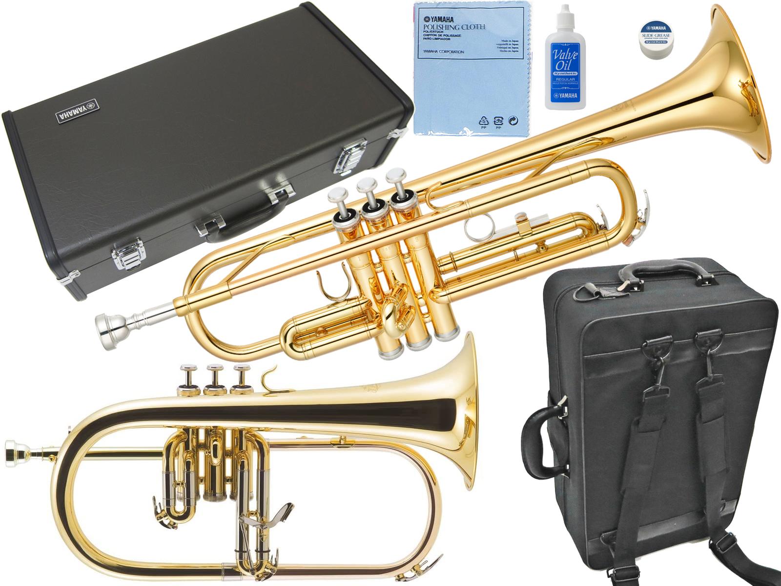 YAMAHA ( ヤマハ ) YTR-2330 トランペット 正規品 ゴールド 管楽器 B♭Trumpets YTR-2330-01 Jマイケル フリューゲルホルン FG-500 セット 北海道 沖縄 離島不可