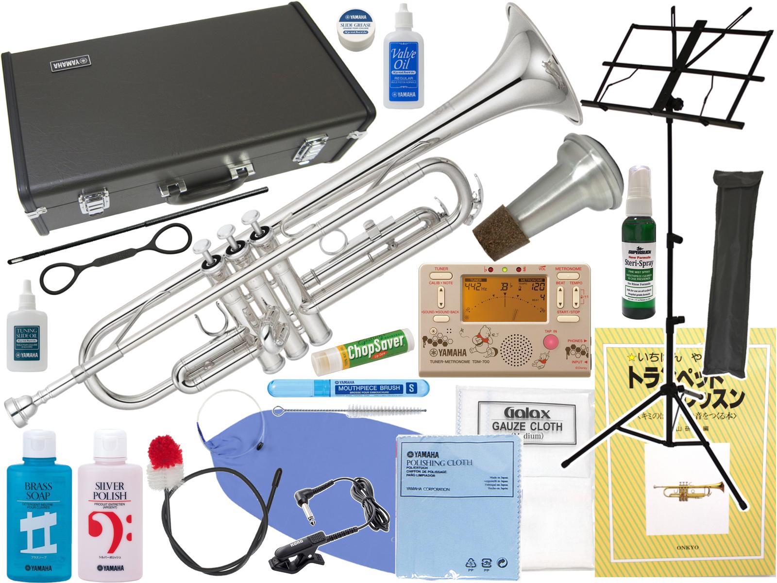 YAMAHA ( ヤマハ ) YTR-2330S トランペット 正規品 銀メッキ シルバー 本体 Bb 管楽器 Trumpet YTR-2330S-01 セット D 北海道 沖縄 離島不可