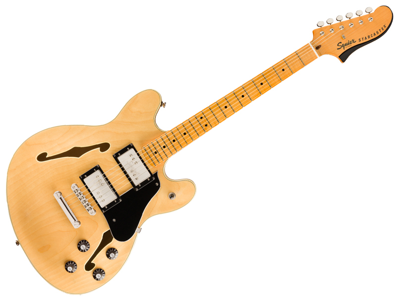 byフェンダー、スクワイヤーの個性的セミアコ。 SQUIER ( スクワイヤー ) Classic Vibe Starcaster NAT 【 スターキャスター セミアコ 】【ピック20枚セットプレゼント 秋特価 】 エレキギター
