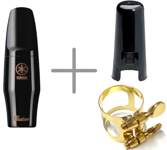 YAMAHA ( ヤマハ ) AS-7CM アルトサックス マウスピース カスタム 7CM ラバー alto saxophone hard rubber mouthpieces custom リガチャー セット A