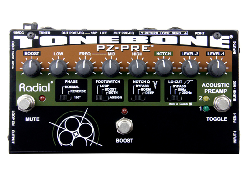 【お取り寄せ商品】 ラディアル ピエゾPU対応DIボックス PZ-DI / (ラジアル) Radial