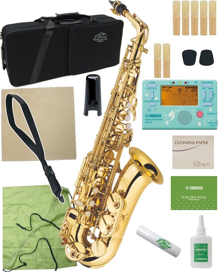 配送員設置送料無料 アルトサクソフォン 木管楽器 入門 お手入れセット サクソフォン J Michael Jマイケル AL-500 アルトサックス 新品 ラッカー 初心者 正規品 沖縄 TDM-700DARL alto F gold アリエルセット saxophones 管楽器 北海道 離島 同梱 代引き不可
