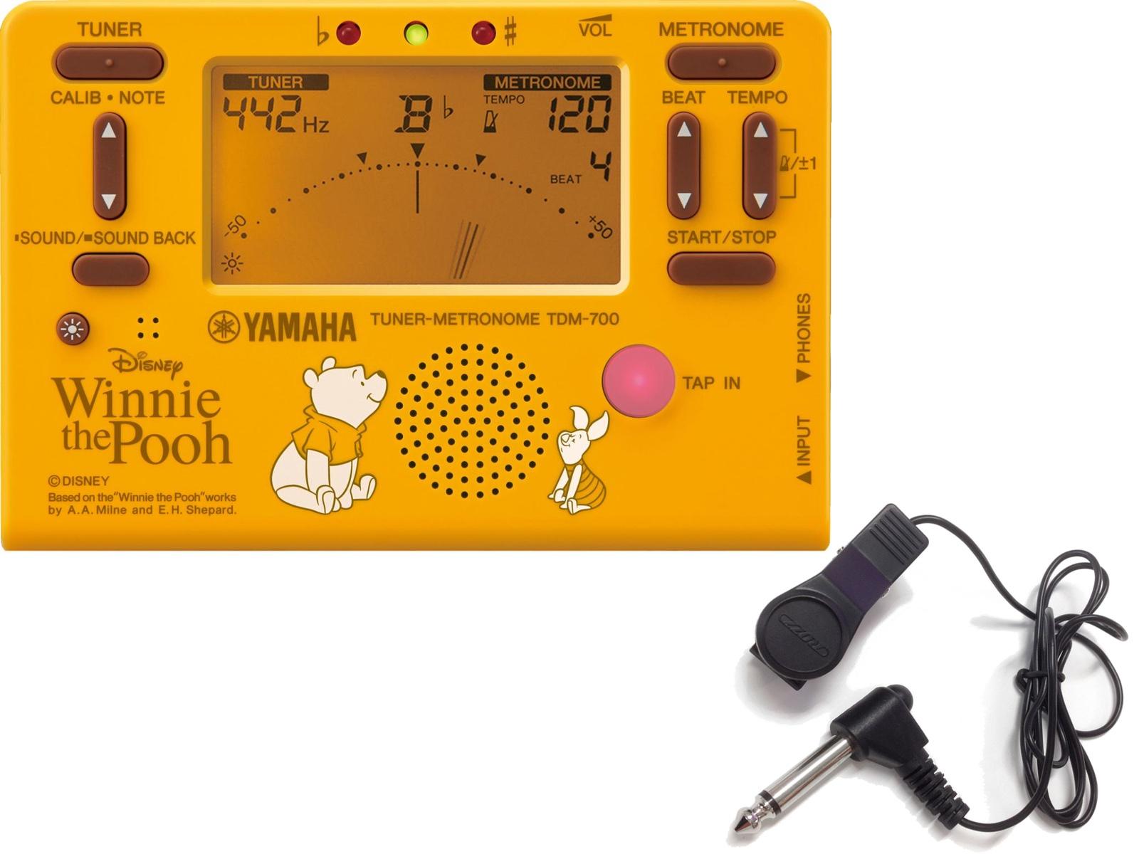 Disney Tuner Metronome TDM-700 Winnie the Pooh 信憑 メール便出荷品 YAMAHA ヤマハ TDM700DPO4 沖縄不可 くまのプーさん ブライトイエロー マイク チューナーメトロノーム 直営店 ディズニー 北海道不可 クロマチックチューナー セット 離島不可