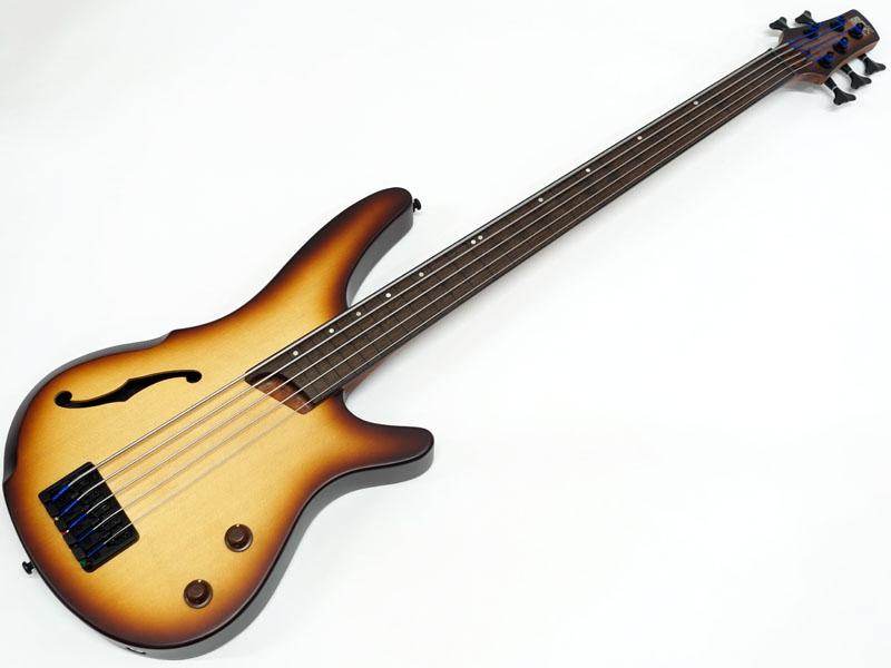 ピエゾ搭載セミホロウボディにフレットレスの5弦ベース Ibanez アイバニーズ SRH505F NTF 公式ストア 百貨店 5弦ベース 最強価格 フレットレス