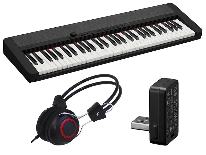 いつだって自分らしく そんなわたしに似合うキーボード CASIO カシオ CT-S1 BK セット カシオトーン 店舗 ブラック ブランド買うならブランドオフ ワイヤレスMIDIAUDIO