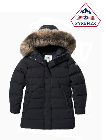 PYRENEX (ピレネックス) 国内正規品 レディースダウンコートジャケット GRENOBLE JACKET グルノーブル Black ブラック