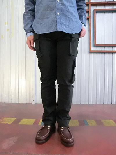 STUDIO ORIBE スタジオオリベ EP05  細身でスタイリッシュに穿ける 8ポケットカーゴパンツ ダークブラウン 【送料無料】【あす楽対応】【レビューを書いて500円QUOカードGET】