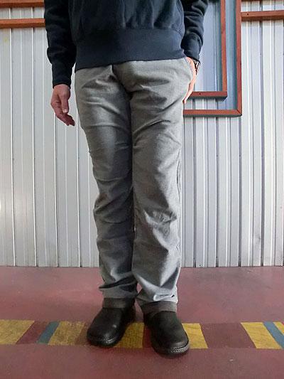 STUDIO ORIBE スタジオオリベ【SALE】 RIB PANTS リブパンツ スウェットパンツのリラックス感とクライミングパンツの実用性  秋冬素材 ライトグレー 【送料無料】