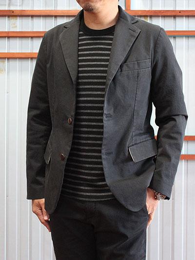 STUDIO ORIBE スタジオオリベ DELICIOUS(デリシャス)  DJ1033-173  ストレッチ素材 チノジャケット 日本製  Black 送料無料