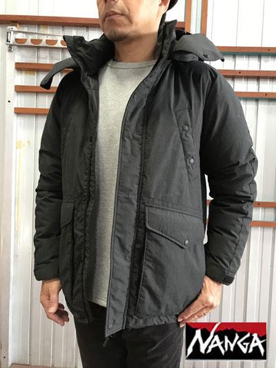 NANGA ナンガ TAKIBI DOWN JACKET タキビダウンジャケット Charcoal チャコール 日本製 送料無料