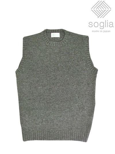 soglia (ソリア) LANDNOAH Vest 日本製 スタンダードなカタチの軽くてあたたかいベスト グレー Gray 日本製