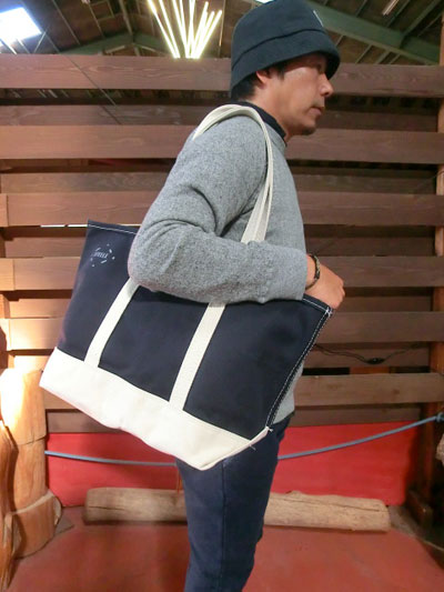 gaku online shop  NAVY made in STEELE CANVAS TOTE BAG steal canvas ... 1c8a5019b9