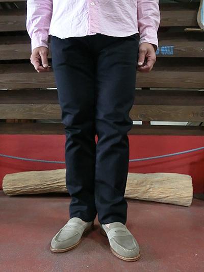 FOB FACTORY(FOBファクトリー) F1134 ピケ5Pパンツ  5P PIQUE PANTS ピケ素材 ネイビー アイボリー【送料無料】【あす楽対応】