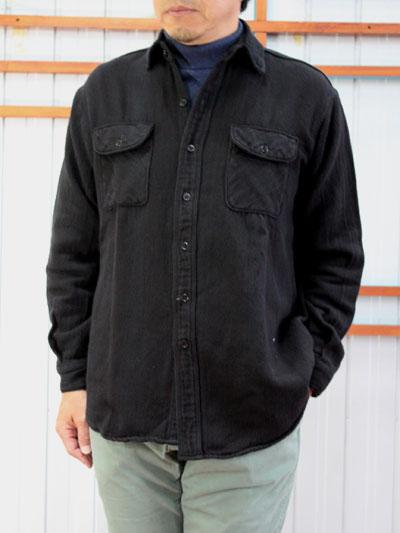 orSlow オアスロウ【SALE】03-V8072 VINTAGE FLANNEL SHIRT ヴィンテージ風フランネルシャツ ブラック orSlow 送料無料