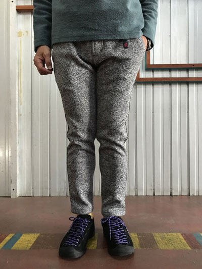 Gramicci (グラミチ)GMP-F015 BONDING KNIT FLEECE SLIM PANTS スリムパンツ Grey×Navy グレーネイビー 送料無料