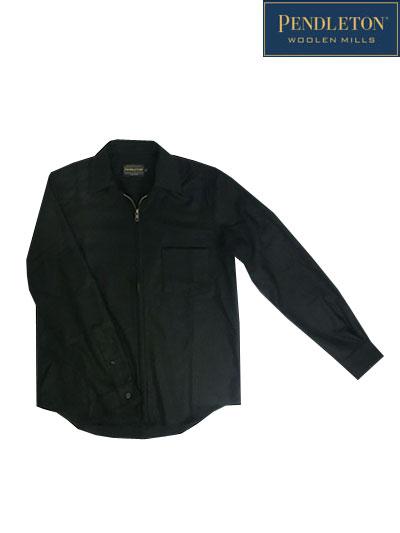 PENDOLTON(ペンドルトン) フルジップスピンネイカーシャツ ウールシャツ ジャパンフィット Black ブラック 日本製 送料無料
