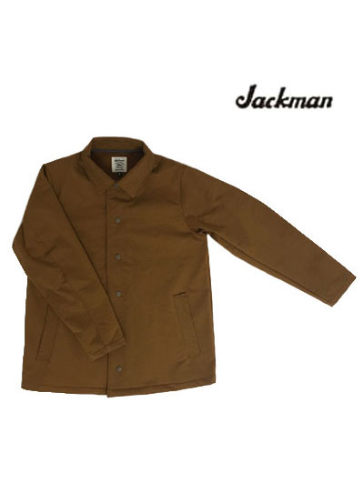 Jackman ジャックマン 【SALE】JM8975 Sweat Coach Jacket スウェットコーチジャケット Brown ブラウン 日本製