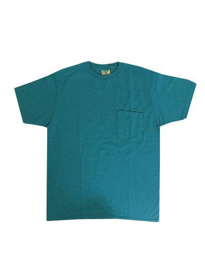 Good Wear別注スタンダードフィット USA製 ワンウオッシュ ヘビーコットン 1ポケットTシャツ Neon Blue【あす楽対応】