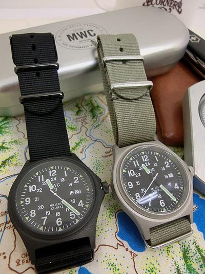 MWC ミリタリーウォッチカンパニー 国内正規品 保証書付き G10BH 12/24 ミリタリーウオッチ G10 クオーツ メンズ腕時計 グレー ブラック 送料無料