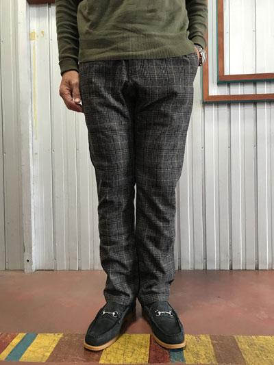 Gramicciグラミチ Wool Belend ウールブレンド NN-PANTS JUST CUT NNパンツジャストカット グレンチェックグレー 送料無料