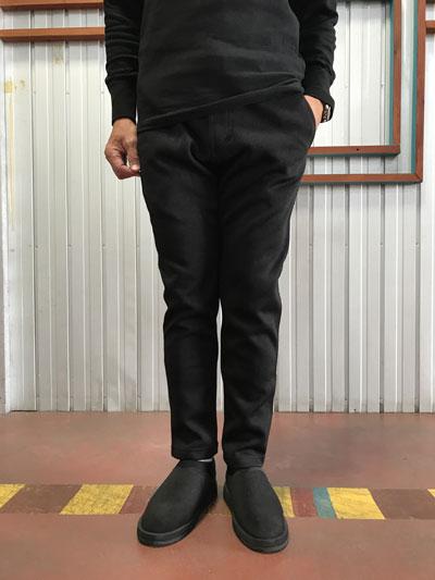 Gramicci (グラミチ)GMP-F015 BONDING KNIT FLEECE SLIM PANTS スリムパンツ Black×Black ブラック×ブラック 送料無料