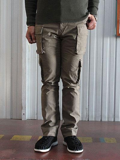 STUDIOORIBE スタジオオリベ EP02 細身でスタイリッシュに穿ける 8ポケットカーゴパンツ ベージュ ストレッチ素材 カーキ ベージュ カモ ホワイト 送料無料