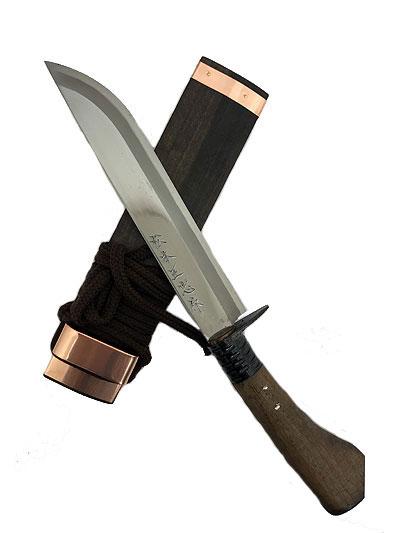 松本正忠作 名工オリジナル鍛造剣ナタ 210MM 塗り仕様 南国土佐鍛冶  青紙鍛造剣鉈