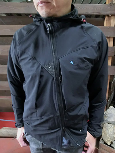 buy popular c28c5 166d6 KLATTERMUSEN (クレッタルムーセン) wind stretch nylon FRODE JACKET diagonal slide  double zipper black