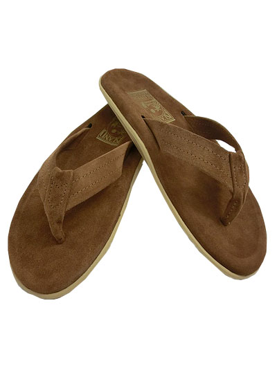 c7553a383a147 ... ISLAND SLIPPER (island slippers) PB203 SUEDE THONG PEANUTS suede  sandals brown SUEDE MADE IN ...