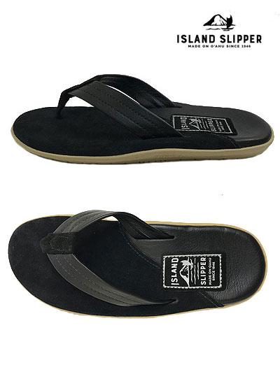 【SALE】ISLAND SLIPPER アイランドスリッパ ー 国内正規品 PB205  コンビレザーレザーサンダル SUEDE BLACK/BARC BLACK トングレザーサンダル MADE IN HAWAII